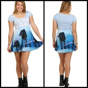 7660adc317 ... STAR WARS pew pew AT-AT skater dress NWT ...